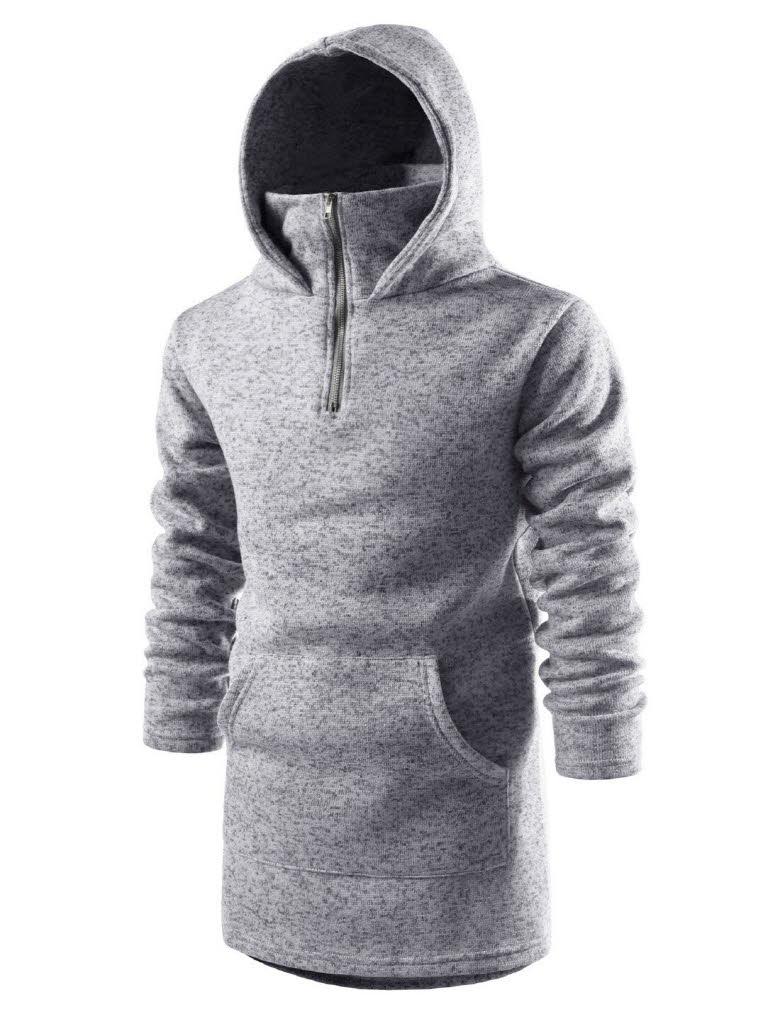 Kangaroo Hoodie Knitting Pattern : (NKHD710) TheLees Kangaroo Pocket Pullover Zipup ...