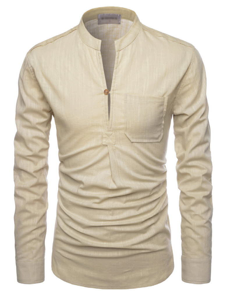 Mens Linen Shirts. When deciding on selections of shirts to enhance a wardrobe, one of the best solutions is a variety of men's linen shirts. Not only are linen shirts extremely handsome, they are also shirts that wear well and are meant to last. Tasso Elba Men's Long Sleeve Linen Shirt, Created for Macy's LAST ACT $