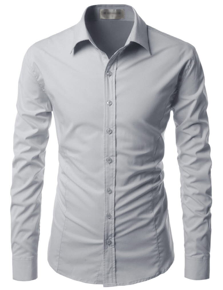 Nks640 thelees mens premium long sleeve stretch button for How to stretch a dress shirt